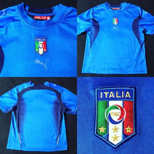 bd66f7d9a6 Camisa Seleção Italia 2006-2008 Tam 8 Infantil (48x40) Puma