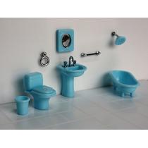 Miniatura Banheiro- Artesanato Quadrinhos Ou Casa De Bonecas