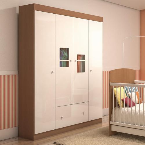 Guarda - roupa Infantil Travessura Multimóveis Mel Acetinado