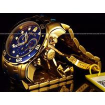 Relógio Masculino Invicta P/e Banhado Ouro 18 K
