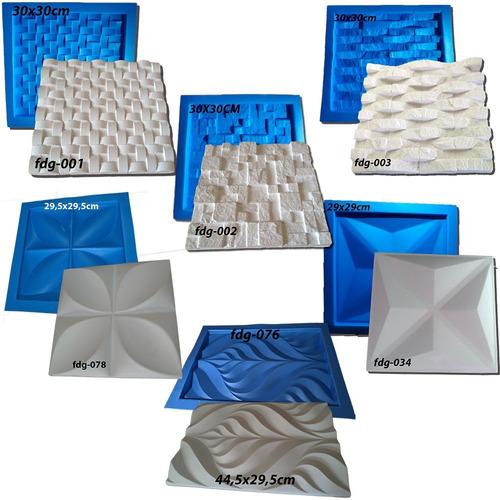 6 Formas De Plástico C/ Borracha Gesso P/ 3d  Esp 2