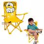 Cadeirinha Infantil Sanfonada Dobrável Cadeira Jardim Praia