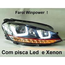 Farol Led Golf Mk7 Gti Tsi Variant Xenon Pisca Led Winpower