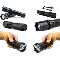 Lanterna Tatica Police Choque Taser Led Bateria Recarregável