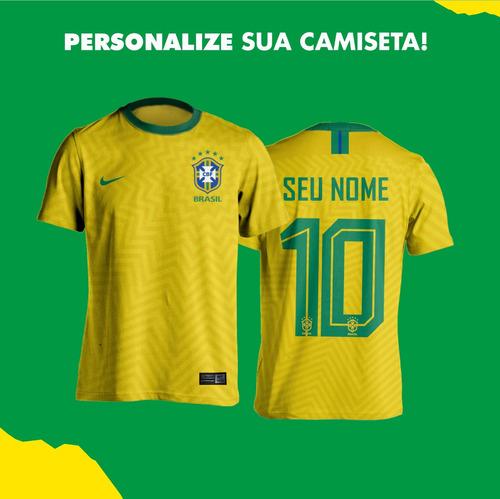 3efb4b1367 Camisa Amarela Seleção Brasileira Personalizada Nome Número