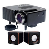 Kit Caixa + Mini Projetor Portatil 1920x1080 Usb/sd/hdmi
