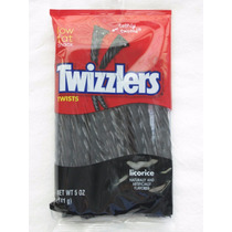 20 Bala Tiras Alcaçuz Twizzlers Black Licorice Frete Grátis