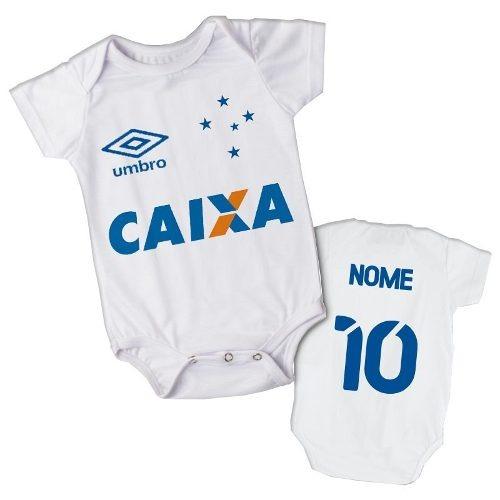 cc95440d04 Body Infantil Bebe Personalizado Time Cruzeiro Futebol