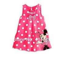 Vestido Basico Rosa Minnie - Infantil
