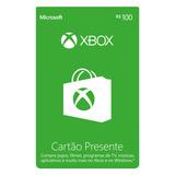Xbox Cartão Presente R$100