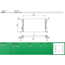 Radiador Gm Celta/prisma 1.0/1.4 2006/ - C/acd - Altura 322