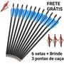 Flecha Seta Para Besta Balestra Carbono   Brinde 3 Pontas