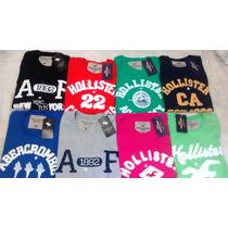 Kit C/ 10 Camisetas Hollister Abercrombie Aeropostale