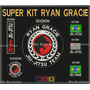 Patch Bordado-ryan Gracie Jiu Jitsu Super Kit Com 6 Bordados