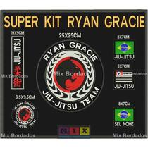 Patch Bordado-ryan Gracie Jiu Jitsu Super Kit Com 6 Bordados