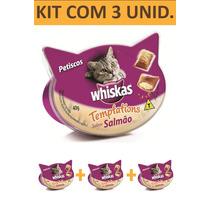 Só Hoje Whiskas Templations Salmao Kit Com 3 Unidades