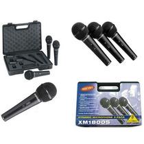 Microfone Behringer Xm1800s Kit C/ 3 Mic + Suporte + Case