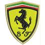 Patch Bordado Lm021 Ferrari Escudo Stock Car Road Peito Gp