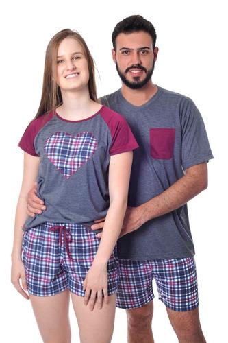 183278c35 Pijama Namorados Kit Com 2 Modelo Curto Frete Gratis. R  139.8