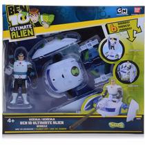 Veículo Ben 10 Ultimate Alien Nave Encanador Com Vô Max.