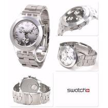 Relógio Swatch Chrono Full Blooded Silver Svck4038g Frete Gr