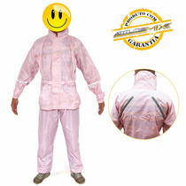 Capa Chuva Rosa Motoqueiro Impermeável Calça Blusa Feminina