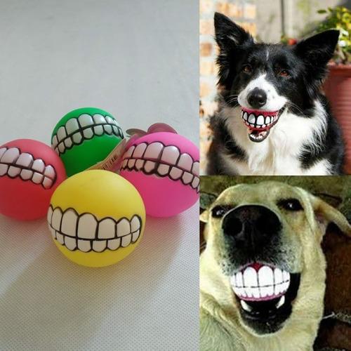 Bola Sorriso Pet P/ Cachorro Sonora (apito) - Brinquedo Cães