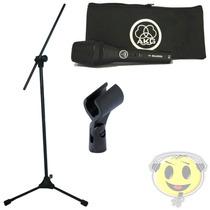 Microfone Akg P3s + Pedestal Rmv Kit Profissional Kadu Som