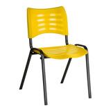 Cadeira Iso Plástica Empilhável Igrejas, Escola - Colorida