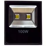Refletor Led 100w - Holofote Branco Frio Bivolt Prova Dagua
