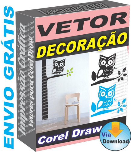 Decoração Parede Impressão Vetor Corel Plotter 3.800 Arquivo dd24b8b2dcdf5