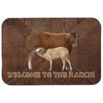 Bem-vindo Ao Rancho Com A Vaca E Bebê Cozinha Ou Banho Mat