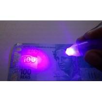 Kit 10 Canetas Detecta Dinheiro Falso Ultra Violeta