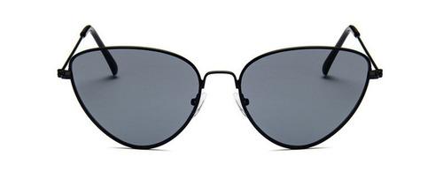 Óculos Escuro De Sol Gatinho Cat Eye Retrô Vintage De Metal 13e43776f4