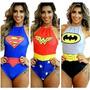 Body Super Heróis Batman Mulher Maravilha Super Girl