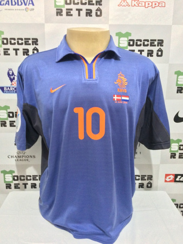 Camisa Holanda Euro 2000 Away Bergkamp 10 76551edf2c58e
