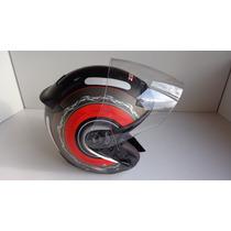 Capacete Zeus 609 13 Matt Black Red Tamanho M 57/58 Cm