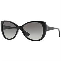 Óculos De Sol Feminino Retrô Vogue Preto E Cinza