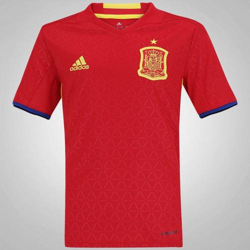 a6a20ee46b Camisa Espanha Infantil adidas Euro Copa 2016 Vermelha