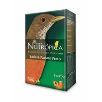 Ração Nutrópica Para Sábia E Pássaro Preto Com Frutas 300g