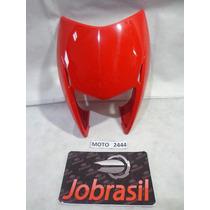Moto 2444 Carenagem Farol Honda Nxr Bros 150 Vermelho Claro
