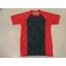Camiseta Praia Onça De Lycra - Cara De Criança