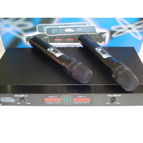 Microfone Skp Vhf-2806 Sem Fio Duplo De Mão