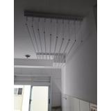 Varal De Teto Individual 10 Varetas Branco Apartamento 150cm