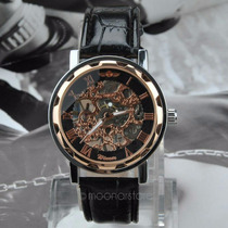 Relógio Winner Skeleton Automatico - Importado Luxo
