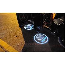2x Projetor Imagem Logos Marcas Carro Led Cortesia Luz Porta