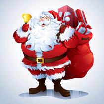 Kit Display Papai Noel 6 Peças