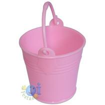 50 Mini Baldinho Lembrancinha Doces Flores Rosa Imbatível