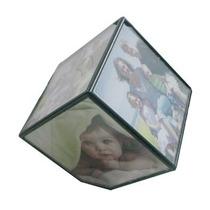 Porta Retrato Decorativo Cubo Giratório Fotos
