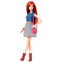 Boneca Barbie Ruiva Fashionistas Balada Nova Na Caixa
